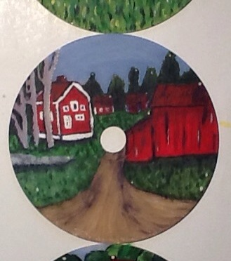 Paint on old CD